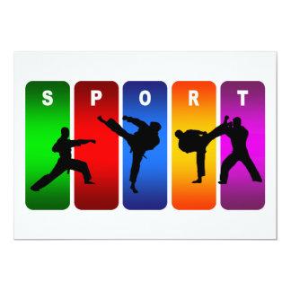 Carte Emblème multicolore de karaté