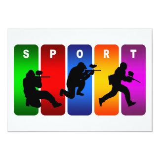 Carte Emblème multicolore de Paintball