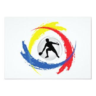 Carte Emblème tricolore de ping-pong