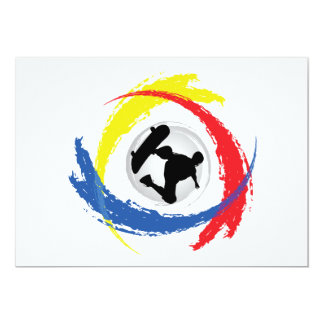 Carte Emblème tricolore faisant de la planche à
