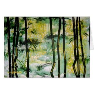 Carte en bambou de jardin (blanc à l'intérieur)