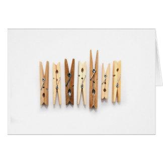 Carte en bois de Cothespins