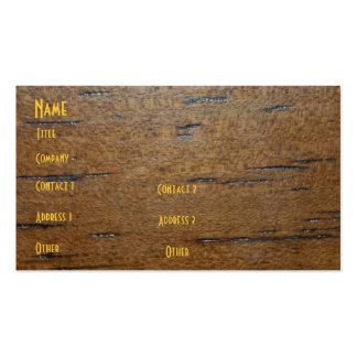 Carte en bois de profil de grain cartes de visite personnelles