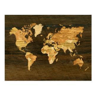 Carte en bois du monde