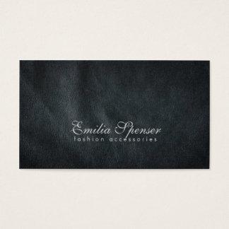 Carte en cuir gris-foncé simple simple de mode