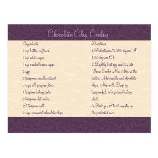 Carte en filigrane de recette de prune