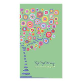 Carte en ligne de magasin de rétro arbre de cercle cartes de visite professionnelles