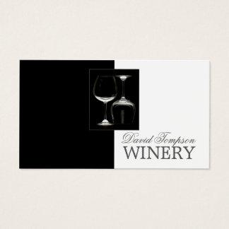 Carte en verre de noir d'établissement vinicole de