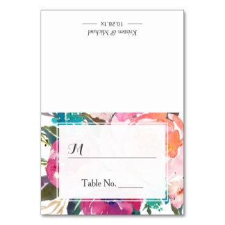 Carte Endroit floral d'allocation des places de mariage