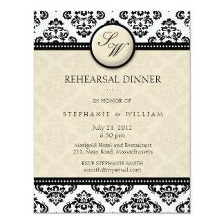Carte ene ivoire de dîner de répétition de carton d'invitation 10,79 cm x 13,97 cm