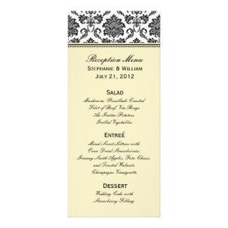 Carte ene ivoire de support de menu de mariage de  carte double en  couleur