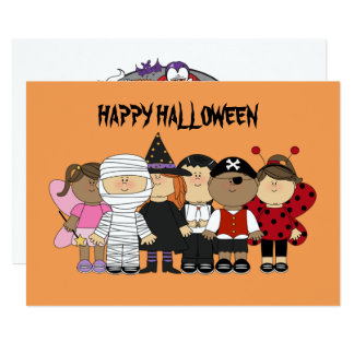 Carte Enfants heureux de Halloween