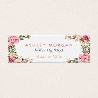 Carte enveloppée florale romantique d'insertion