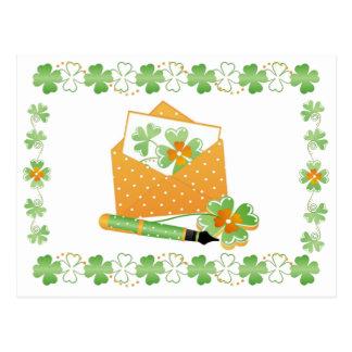 Carte-Envoi de l'amour irlandais Carte Postale