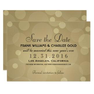 Carte Épousant des économies l'or de la date | Champagne