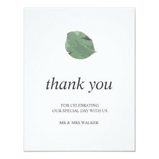 Carte Épouser de feuille d'aquarelle vous remercient -