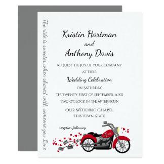 Carte Épouser de moto et de coeurs