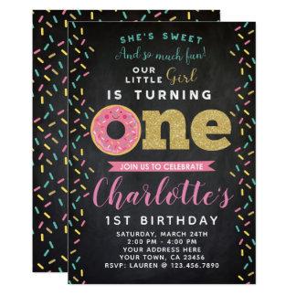 Carte Ęr tableau d'invitation d'anniversaire de beignet