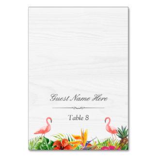 Carte Escorte florale d'endroit de mariage de flamant de