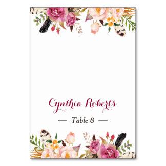 Carte Escorte florale élégante d'endroit de mariage de