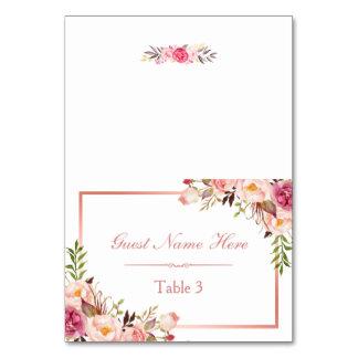 Carte Escorte rose florale rose élégante d'endroit de
