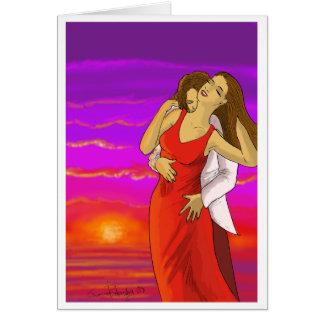 Carte espagnole de Valentines d'amants