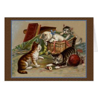 Carte espiègle de chatons
