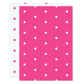 Carte Et blanche papier pointillé par polka rose