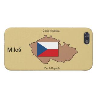 Carte et drapeau de République Tchèque Coques iPhone 5