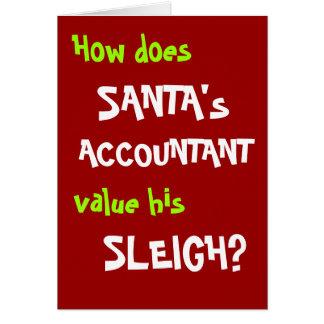 Carte et plaisanterie de Noël drôle de comptable