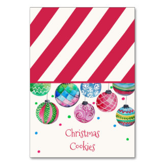 Carte Étiquettes de nourriture de buffet de Noël