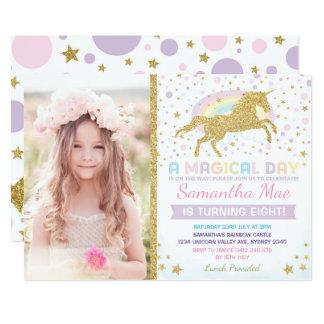 Carte Étoiles de confettis d'invitation d'anniversaire