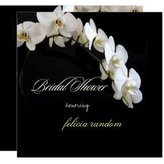 Carte Événements blancs des orchidées de