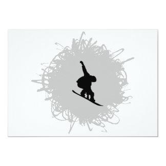 Carte Faire du surf des neiges le style de griffonnage