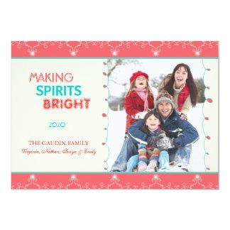 Carte Faisant à spiritueux la photo de famille lumineuse