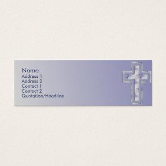 Carte faite sur commande chrétienne croisée bleue