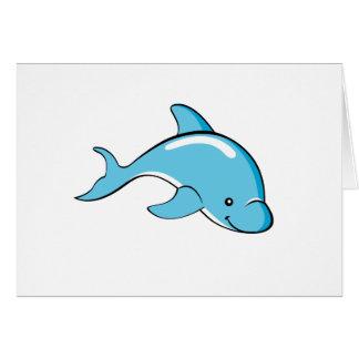 Carte faite sur commande de couleur de dauphin