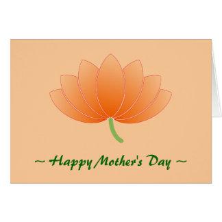 Carte faite sur commande du jour de mère de Lotus