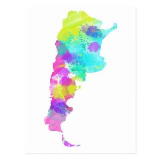 Carte fantaisie de l'Argentine d'aquarelle