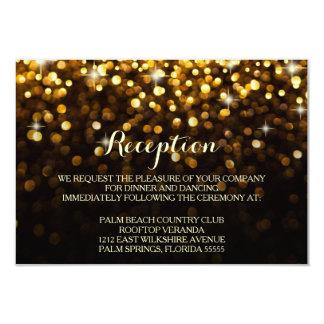 Carte fascinante de réception de tape-à-l'oeil carton d'invitation 8,89 cm x 12,70 cm