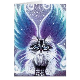 Carte féerique de chat de Lucy