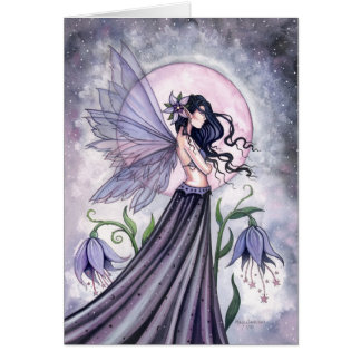 Carte féerique de nuit pourpre mystique par