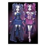 Carte féerique de soeurs de couture gothique de Ma