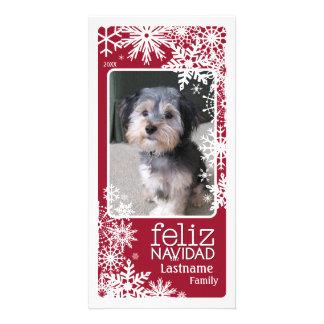 Carte Feliz Navidad - laissez-le neiger !