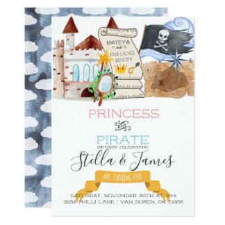 Carte Fête d'anniversaire commune de princesse et de