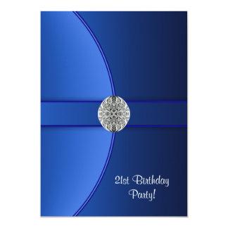Carte Fête d'anniversaire de bleu royal