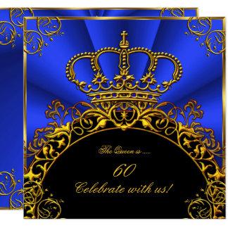 Carte Fête d'anniversaire de bleu royal du Roi Regal