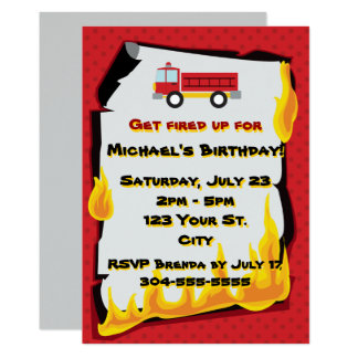 Carte Fête d'anniversaire de corps de sapeurs-pompiers