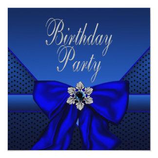 Carte Fête d'anniversaire de la femme d'argent de bleu