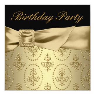 Carte Fête d'anniversaire de la femme noire d'or